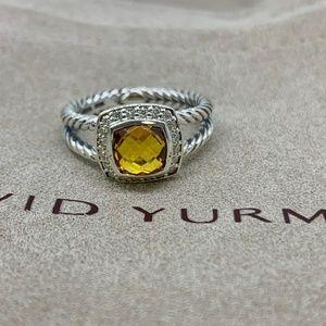 David Yurman Petite Albion Ring Citrine & Diamonds